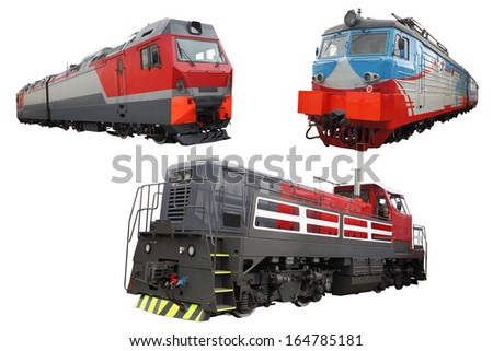 The image of modern locomotives - stock photo