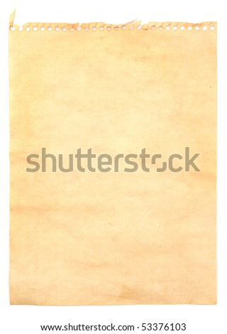 The image of old note paper