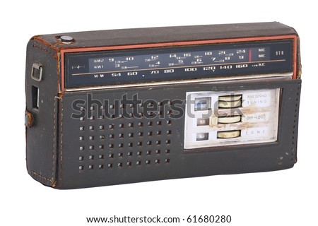 The image of old radio under the light background