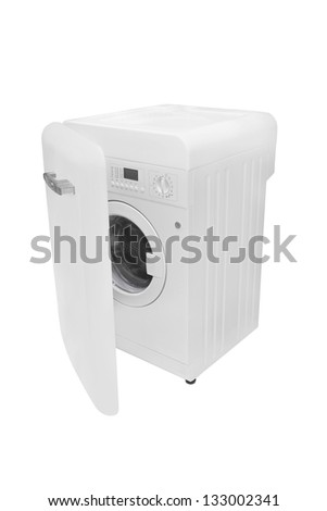 The image of pink washer under the white background - stock photo