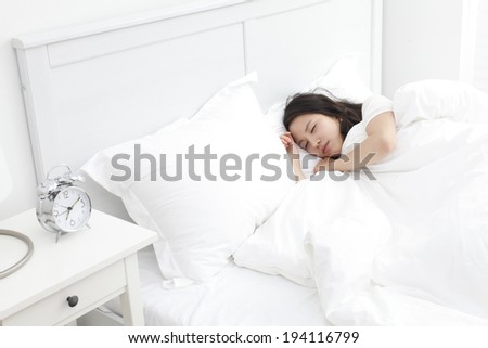 the image of resting woman