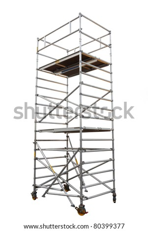 The image of scaffold under the white background - stock photo