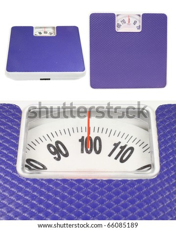 The image of scale in different positions - stock photo