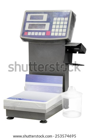 The image of scales for car paint - stock photo