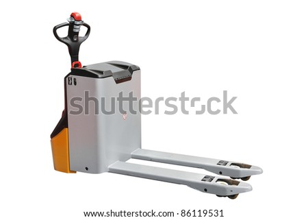 The image of self-propelled loader under the white background