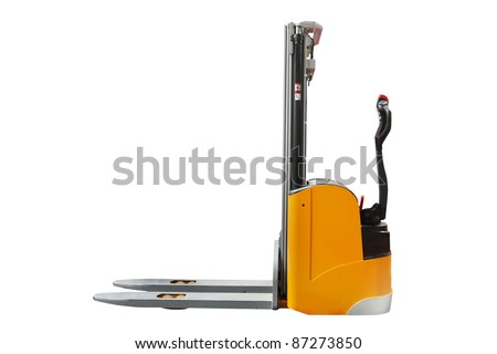 The image of self-propelled loader under the white background - stock photo