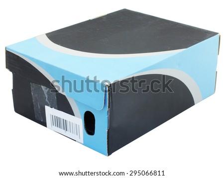 The image of shoe box under the white background - stock photo