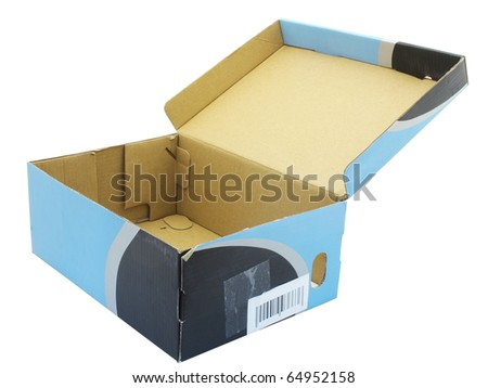 The image of shoe box under the white background - stock photo