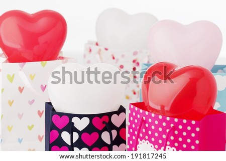 The image of shopping gift bag