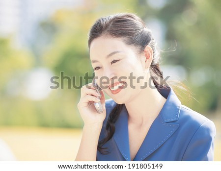 The image of smiling business woman