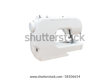 The image of stitching machine under the white background