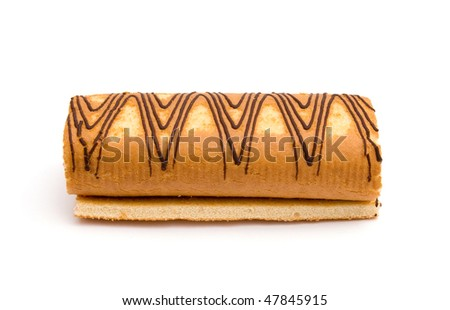 The image of swiss roll isolated on white