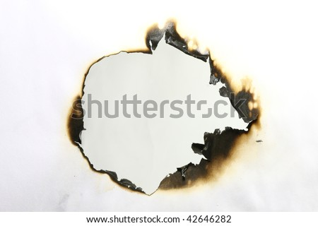 The image of the burnt paper