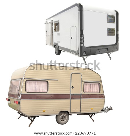 The image of trailer under the white background