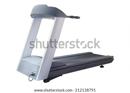 The image of treadmill isolated under the white background