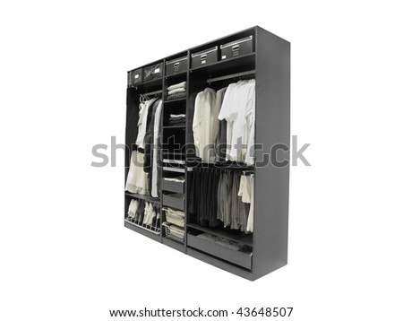 The image of wardrobe under the white background