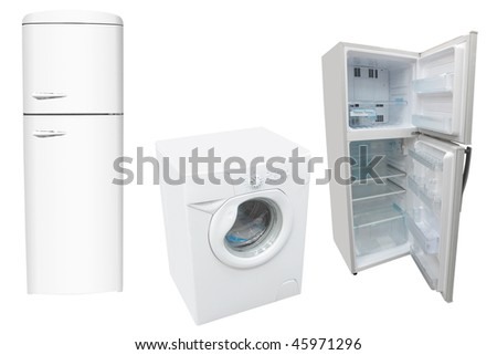 The image of washer and refrigerators - stock photo