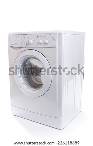 The image of washer under the white background. - stock photo