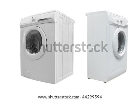The image of washers under the white background - stock photo