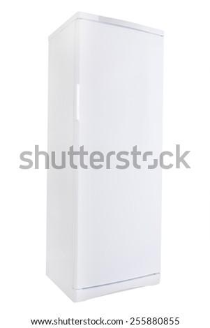 The image of white refrigerator - stock photo