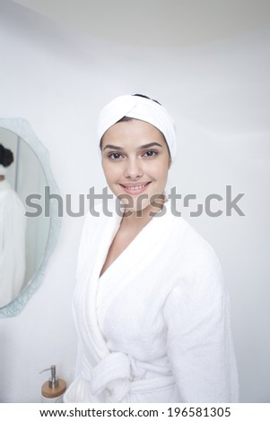 the image of woman getting beauty care
