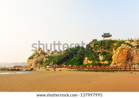 The image taken in china`s hebei province, qinhuangdao city, beidaihe district, geziwo scenic spot.