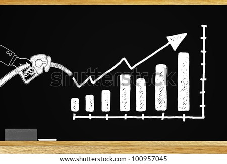 The impact of oil consumption and investment ideas. - stock photo