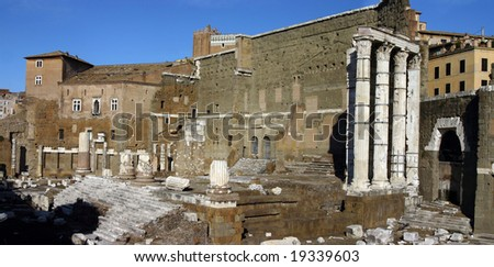 The Imperial  Forum of August in Rome Italy