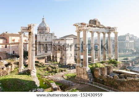The Imperial Forum. Rome. Italy - stock photo