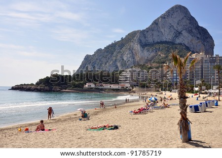 "The impressive rock of ""Calpe"" at the Mediterranian beach ""Costa Blanca"""