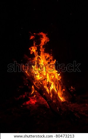 The incense fire flaming details - stock photo