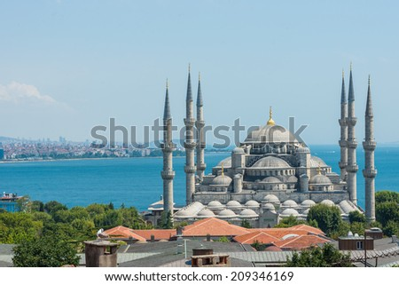 The incredible Blue Mosque of Istanbul. - stock photo