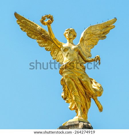 The Independence Monument of Mexico, El Angel - stock photo