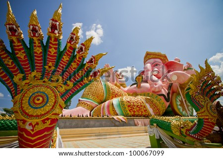 The Indian God Ganesha - stock photo