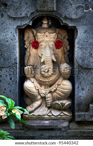 The Indian God Ganesha, Bali, Indonesia - stock photo