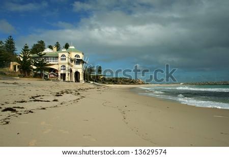 The Indiana Tea House at Cottesloe Beach, Western Australia - stock photo