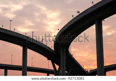 The industrial ring road - stock photo