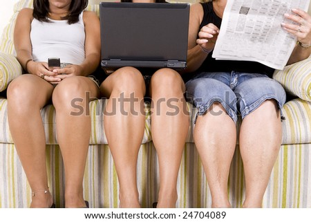 the information evolution in the normal families - stock photo