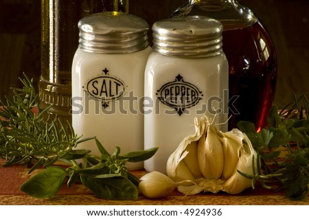 The ingredients for making a salad. - stock photo