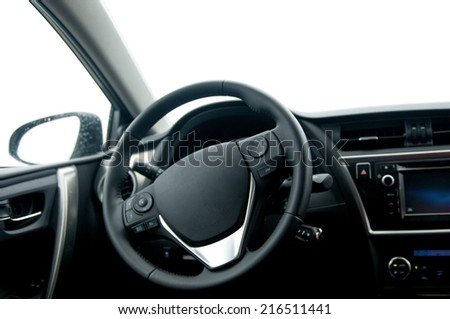 the inside of a car - stock photo
