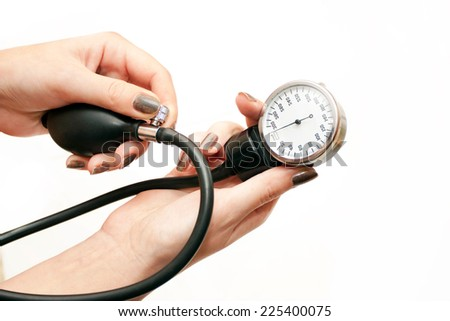 The instrument for pressure measurement in hands of the doctor