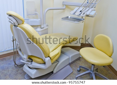 The interior of a dentist office. Dentist office - stock photo