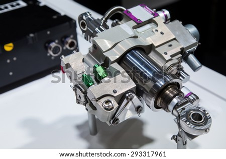 The interior of an engine - stock photo