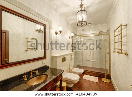 the interior of bathroom