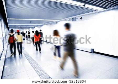 the interior of the building in shanghai china. - stock photo