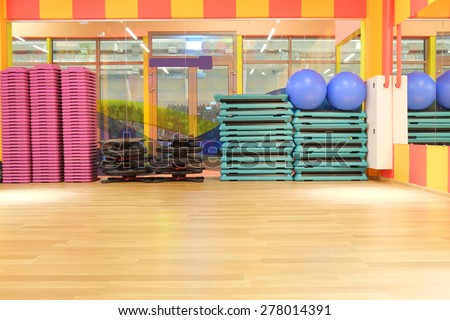 The interior of the dance studio - stock photo