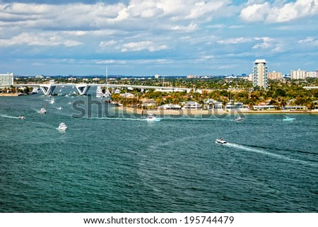 The Intracoastal Waterway in Fort Lauderdale, Florida - stock photo