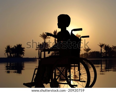 The invalid on a background of the sky - stock photo
