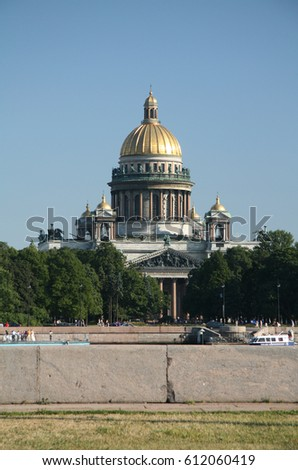 The Isaac Cathedral in St. Petersburg, Russia.