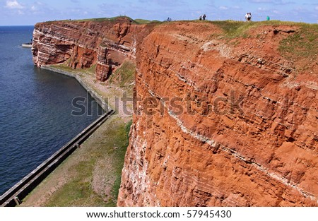 The Island Helgoland (Helgioland) in Germany - stock photo